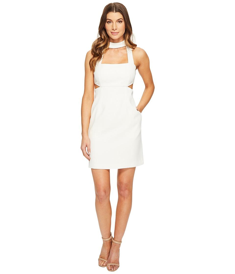 JILL JILL STUART - Short Crepy Dress with Choker (Off-White) Women's Dress