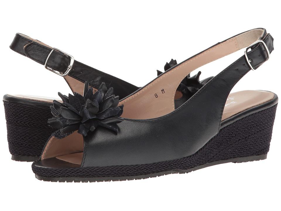 Sesto Meucci - Bobby (Navy Nappa/Navy Cartizze Bow) Women's Sandals