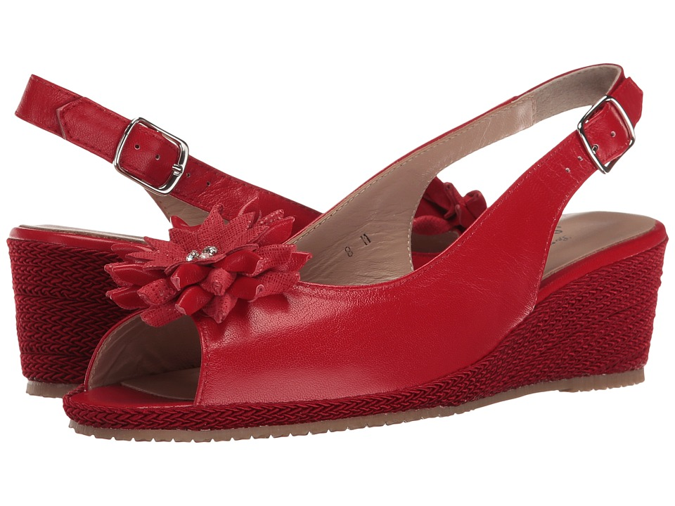 Sesto Meucci - Bobby (Red Nappa/Red Cartizze Bow) Women's Sandals