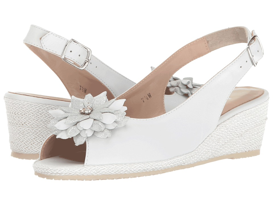 Sesto Meucci - Bobby (White Nappa/Silver Glitter Bow) Women's Sandals