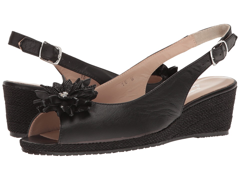 Sesto Meucci - Bobby (Black Nappa/Black Cartizze Bow) Women's Sandals