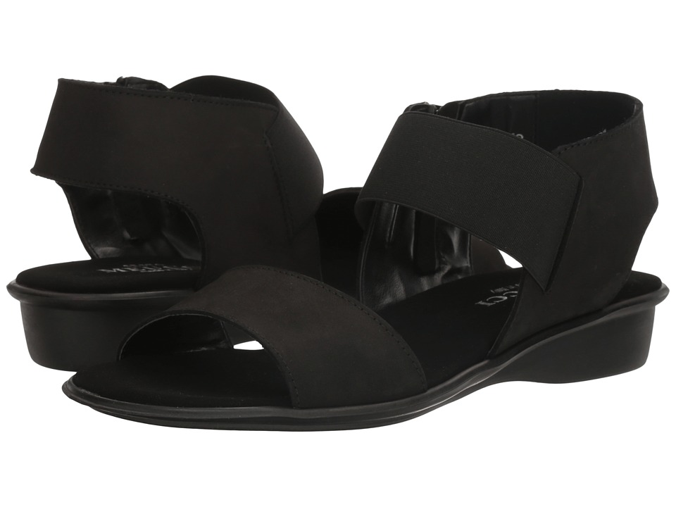 Sesto Meucci - Eirlys (Black Soft Nabuk/Black Elastic) Women's Sandals