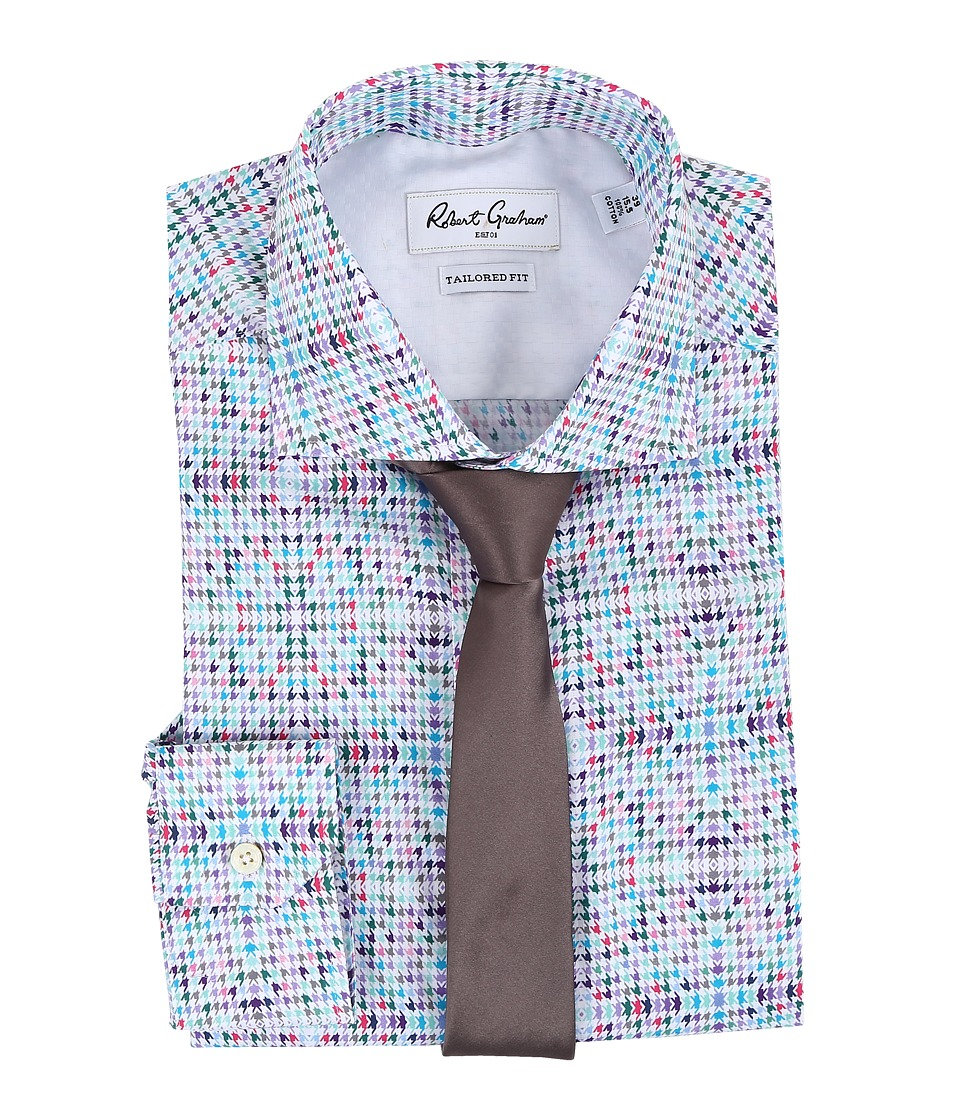 Robert Graham - Savio Dress Shirt (White) Men's Long Sleeve Button Up