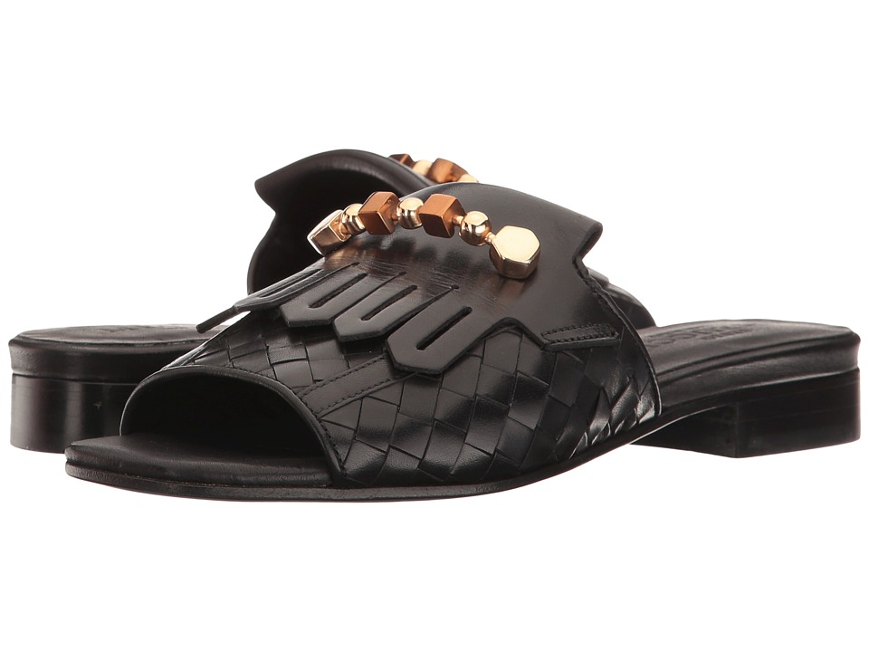 Sesto Meucci - Gavan (Black Stained Calf) Women's Sandals