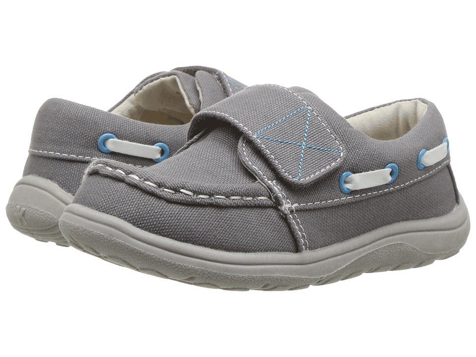 See Kai Run Kids - Milton (Toddler/Little Kid) (Gray Canvas) Boy's Shoes