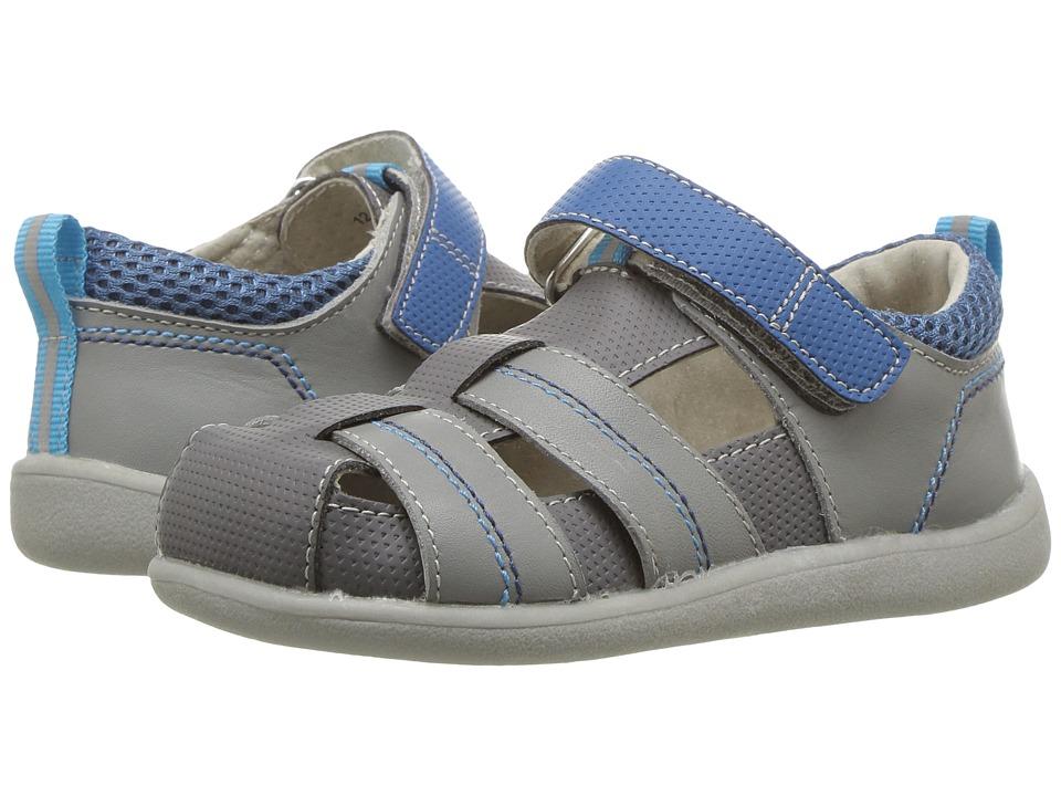 See Kai Run Kids Ryan II (Toddler) (Gray/Blue) Boys Shoes