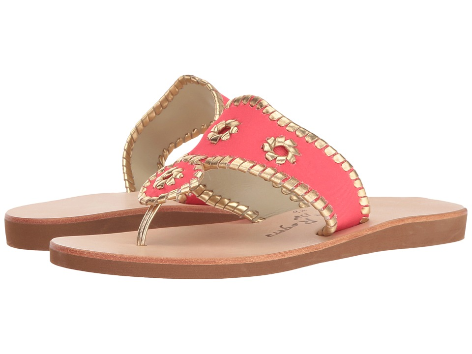 Jack Rogers - Boating Jacks (Bright Pink/Gold) Women's Sandals