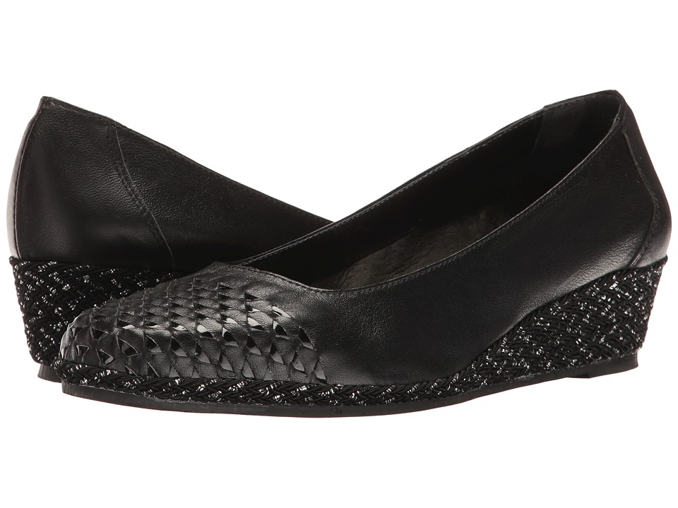 Sesto Meucci - Myette (Black Nappa/Black Patent) Women's Wedge Shoes