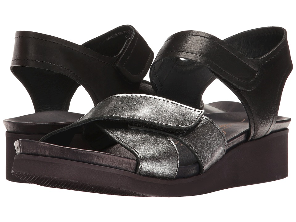 Sesto Meucci - Meleda (Black Metallic Tresor/Black Dye) Women's Sandals