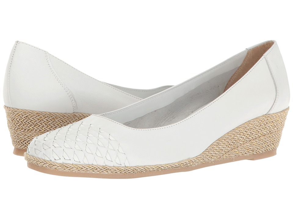 Sesto Meucci - Myette (White Nappa/White Patent) Women's Wedge Shoes