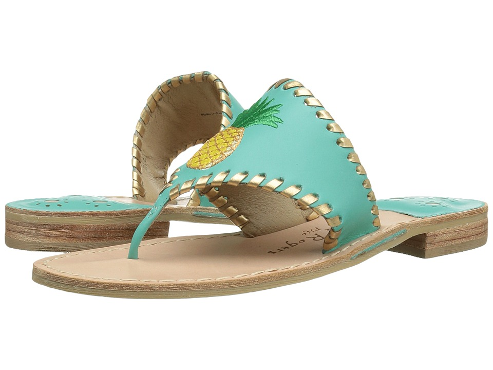 Jack Rogers Pineapple (Caribbean Blue/Gold) Women
