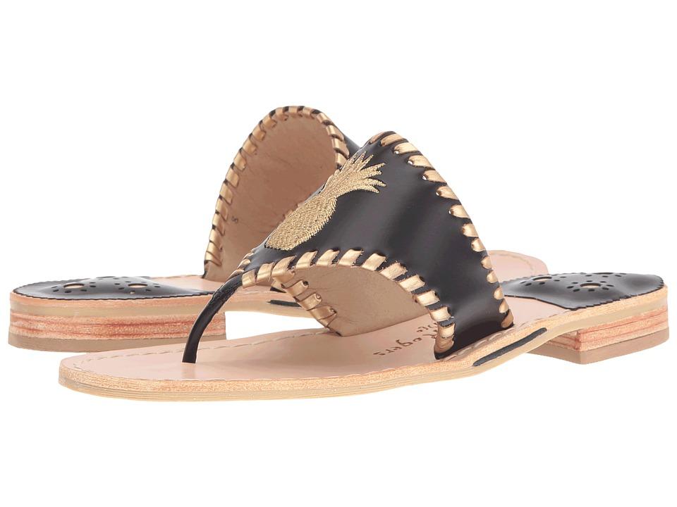 Jack Rogers - Pineapple (Black/Gold) Women's Sandals