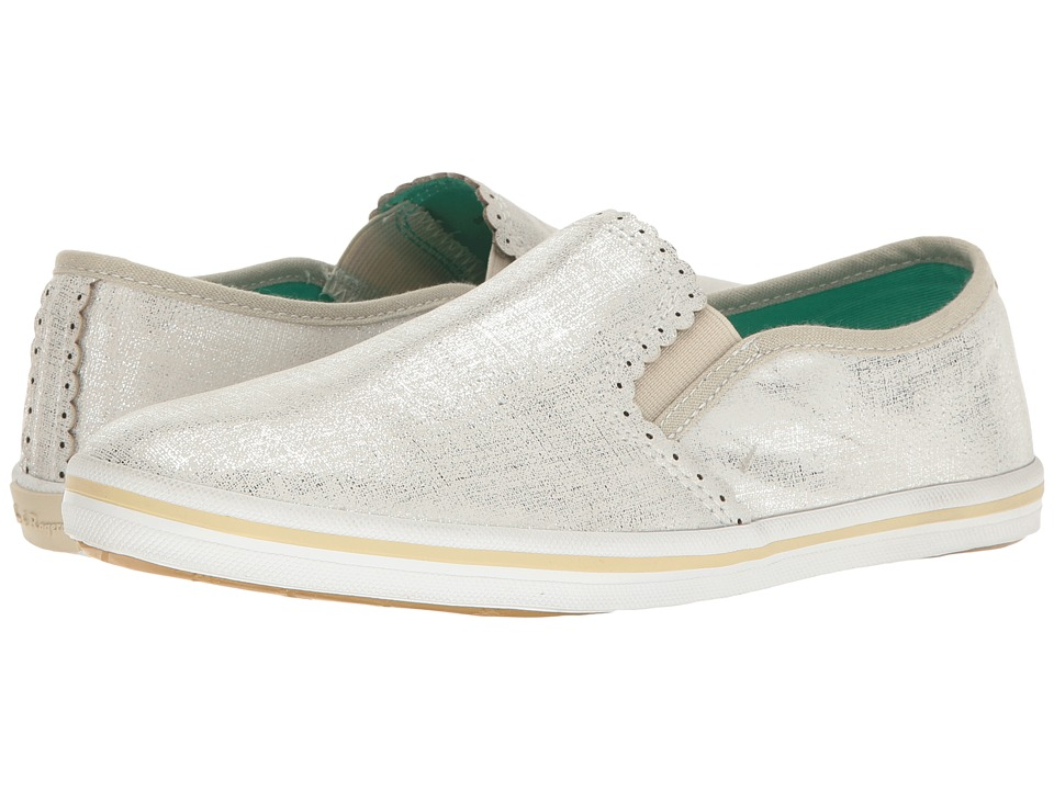 Jack Rogers - Bennett Etched (Silver) Women's Slip on Shoes