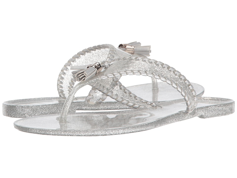 Jack Rogers - Sparkle Alana Jelly (Silver) Women's Sandals