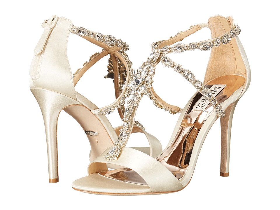 Badgley Mischka - Georgia (Ivory Satin) High Heels