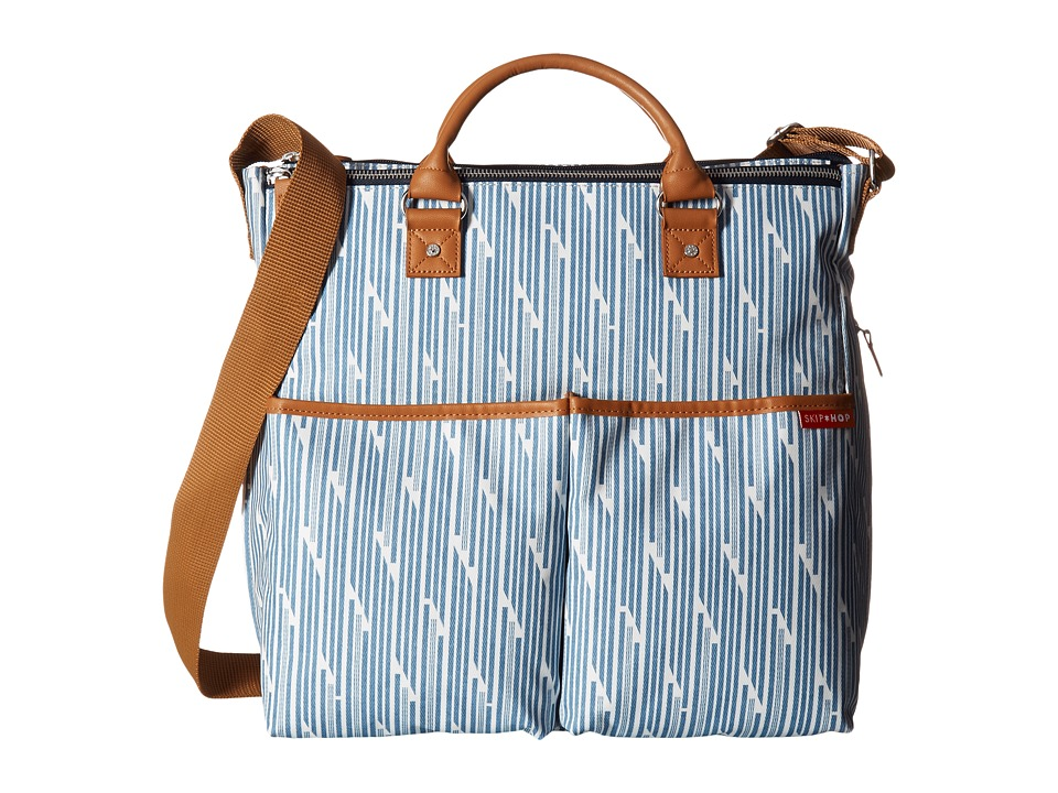 Skip Hop - Duo Special Edition Diaper Bag (Blue Print Stripe) Diaper Bags