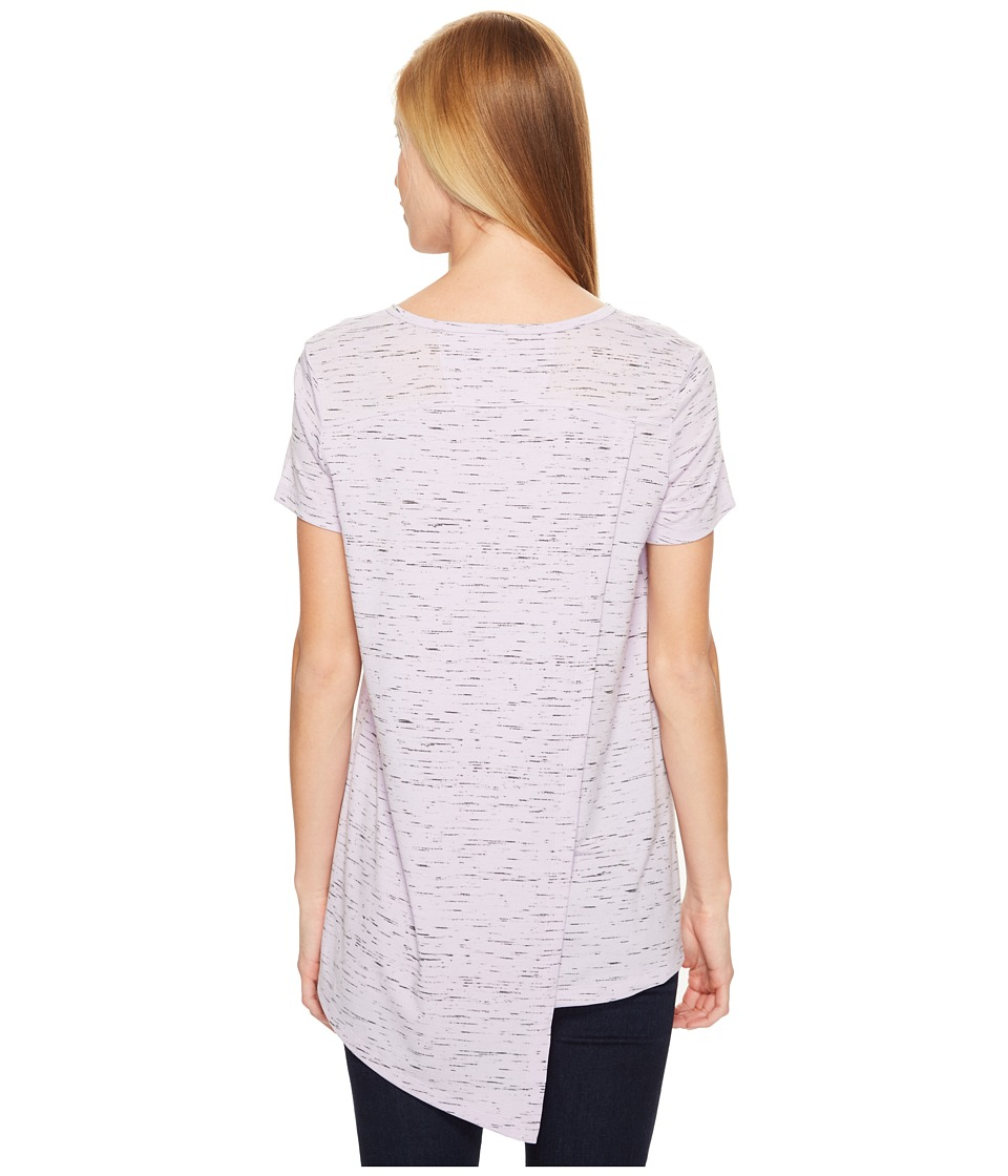ExOfficio - Wanderlux V-Neck Short Sleeve Top (Pale Lilac Marl) Women's T Shirt