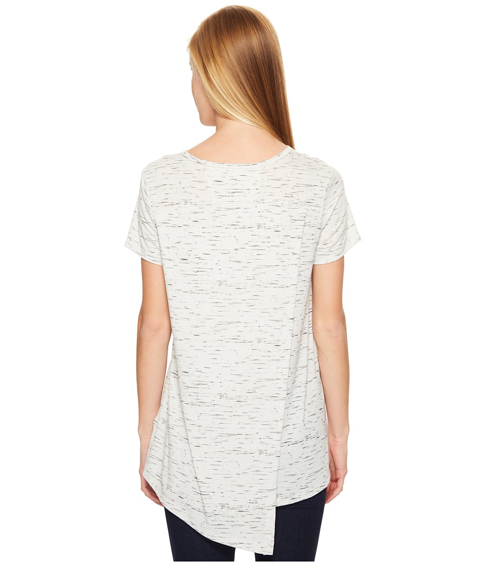 ExOfficio - Wanderlux V-Neck Short Sleeve Top (Platinum Marl) Women's T Shirt