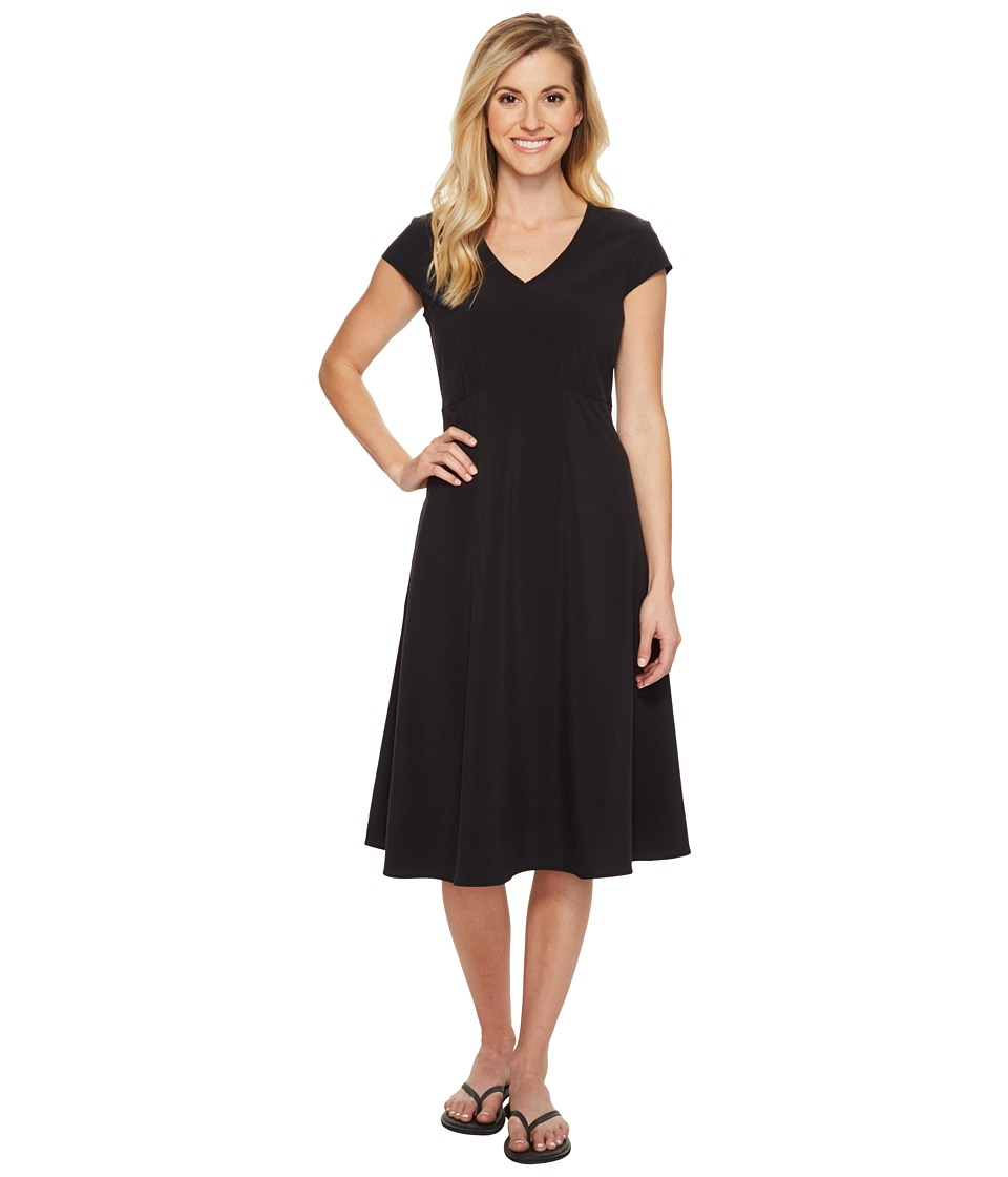 ExOfficio Kizmet Cap Sleeve Dress (Black) Women