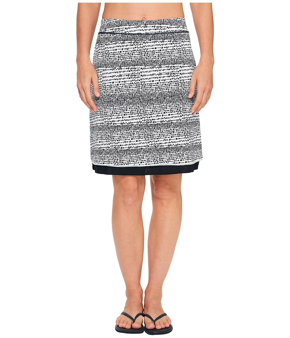 ExOfficio - Wanderlux Reversible Print Skirt (Black/White) Women's Skirt
