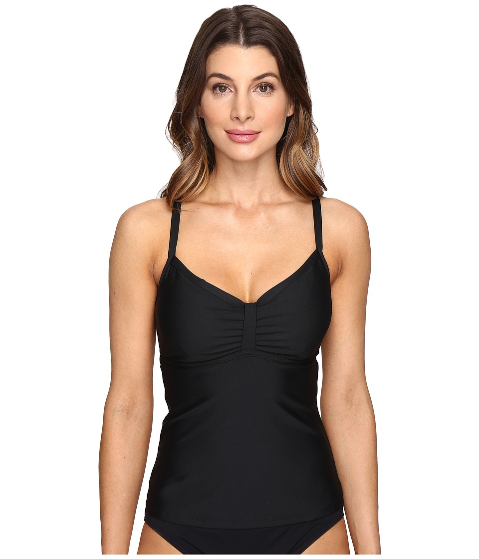 Next by Athena - Good Karma In Training Tankini Top (D-Cup) (Black) Women's Swimwear