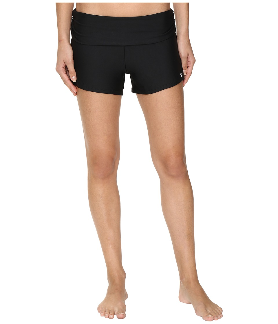 Next by Athena Good Karma Shorebreaker Swim Shorts (Black) Women
