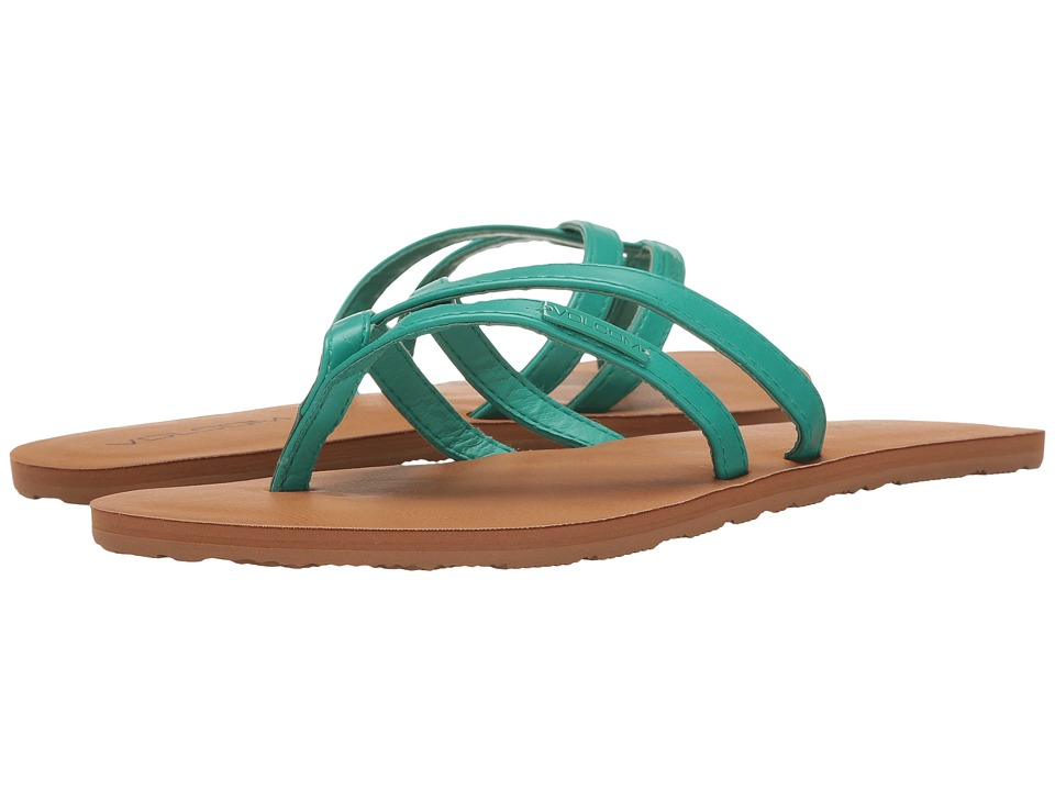 Volcom - Crosstown (Green Spray) Women's Sandals