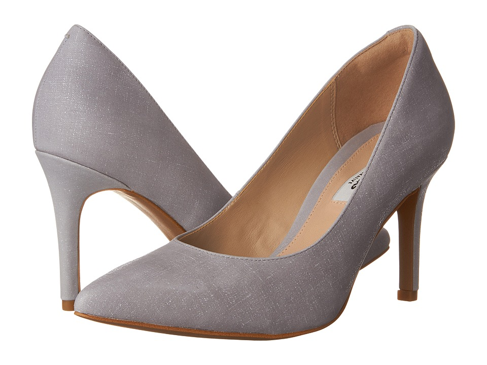 Clarks - Dinah Keer (Grey/Blue Interest Leather) Women's Shoes