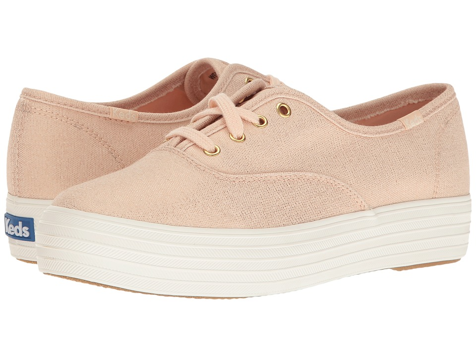 Keds - Triple Metallic Canvas (Rose Gold) Women's Slip on Shoes
