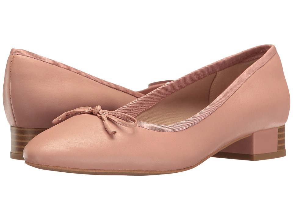 Clarks - Eliberry Isla (Dusty Pink Leather) Women's Shoes