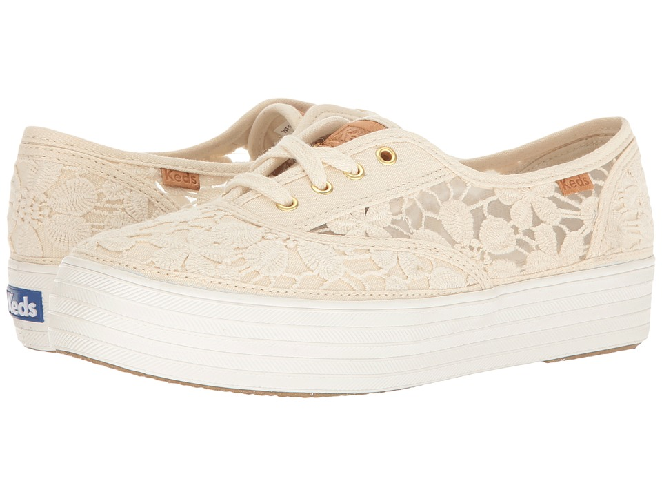 Keds - Triple Vintage Crochet (Ivory) Women's Lace up casual Shoes
