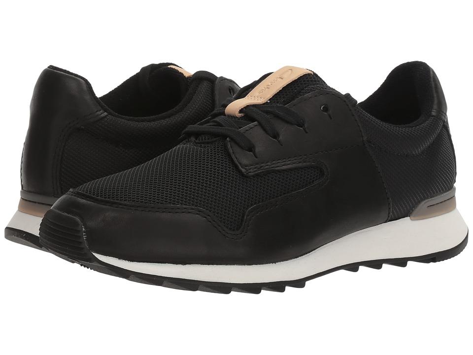 Clarks - Floura Mix (Black Leather) Women's Shoes