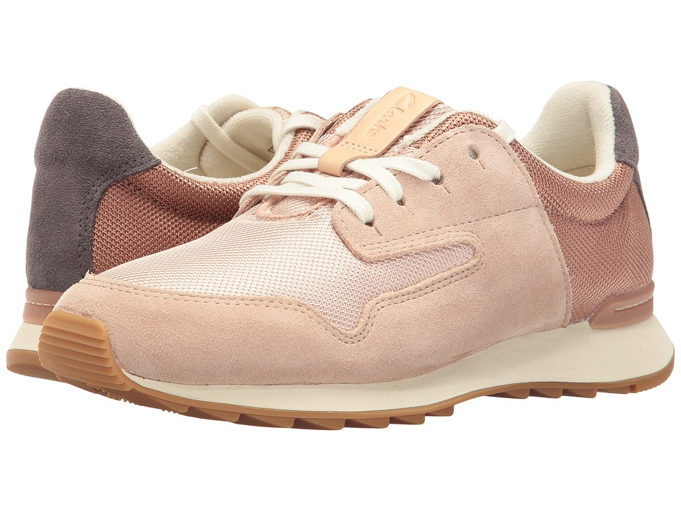 Clarks - Floura Mix (Nude Pink Leather Combi) Women's Shoes