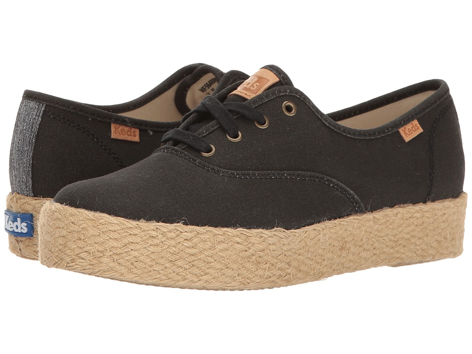 Keds Triple Pigment Canvas Jute (Black) Women