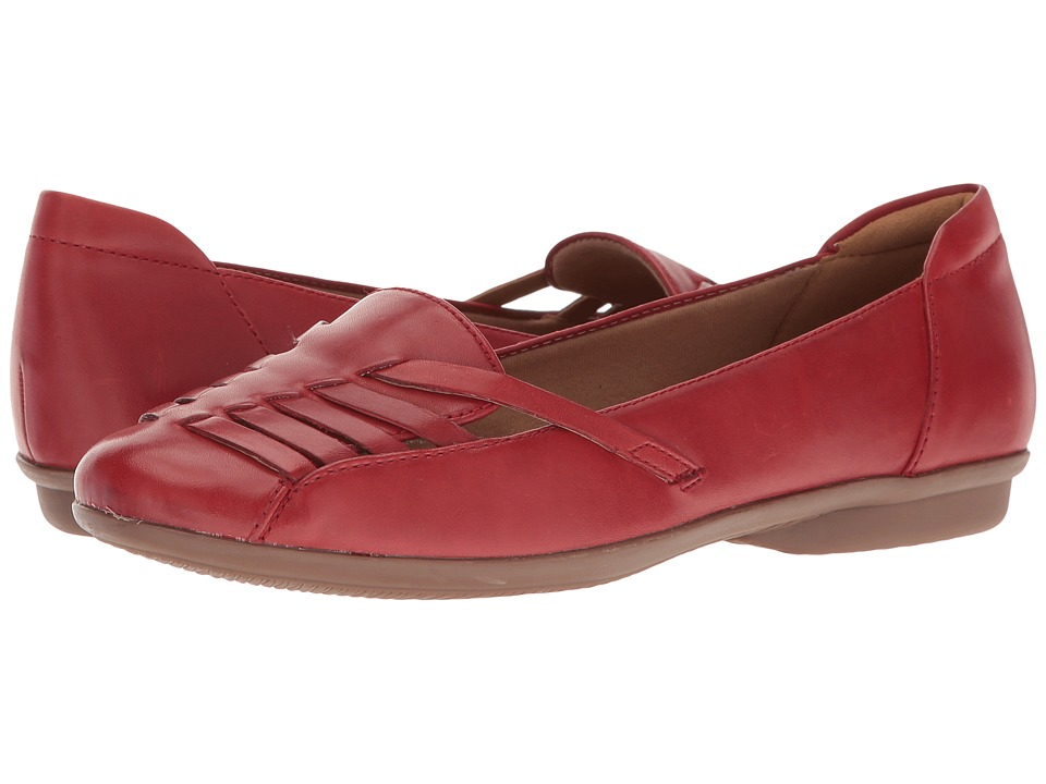 Clarks - Gracelin Gemma (Red Leather) Women's Shoes
