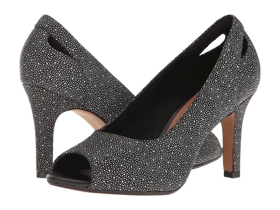 Clarks - Heavenly Maze (Black Interest Nubuck) Women's Shoes