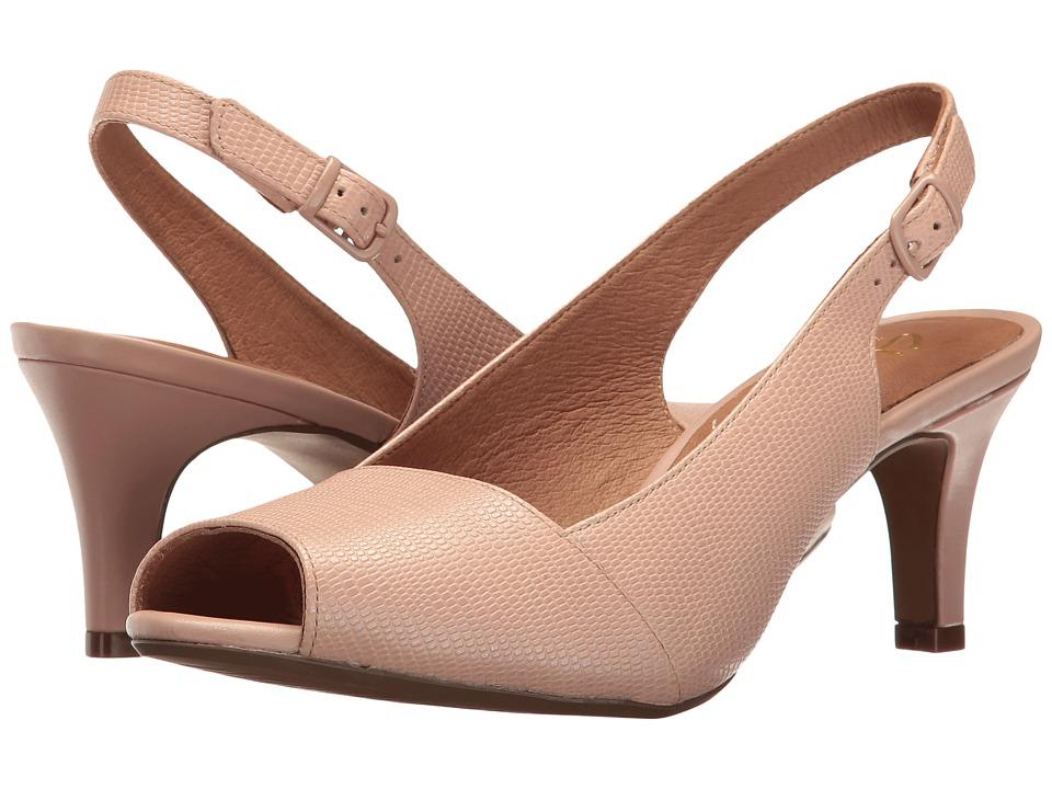 Clarks - Heavenly Leah (Dusty Pink Lizard Leather) Women's Shoes