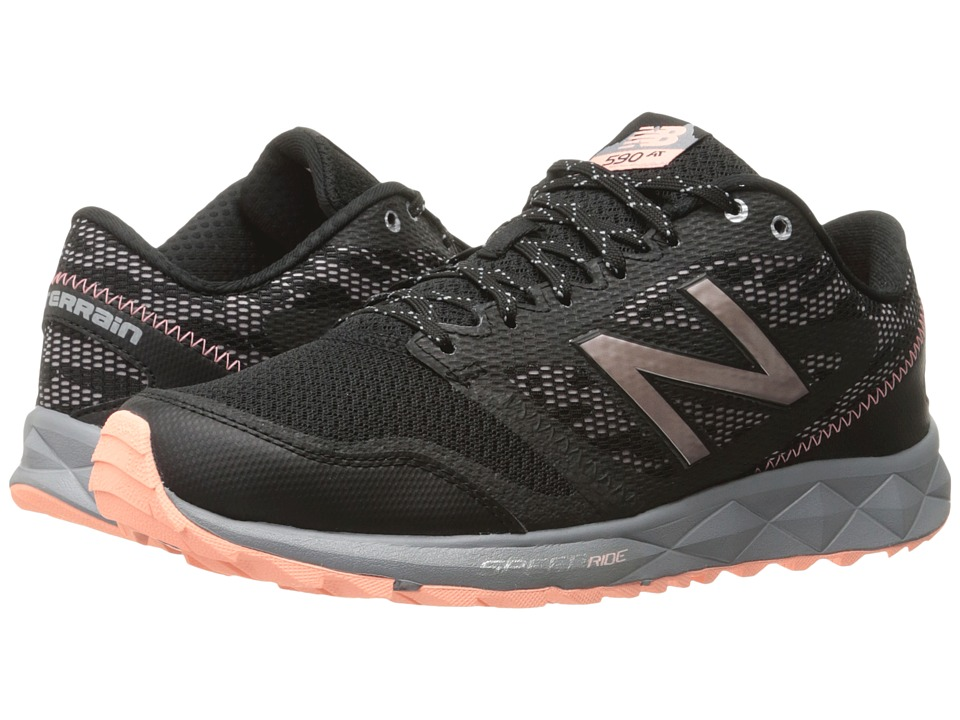 New Balance - 590 V2 (Black/Sunrise Glo/Steel) Women's Running Shoes