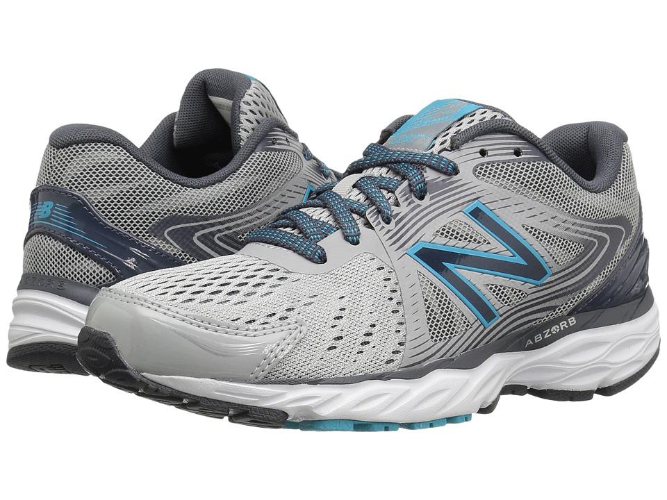 New Balance - 680v4 (Steel/Thunder/Ozone Blue Glo) Women's Running Shoes