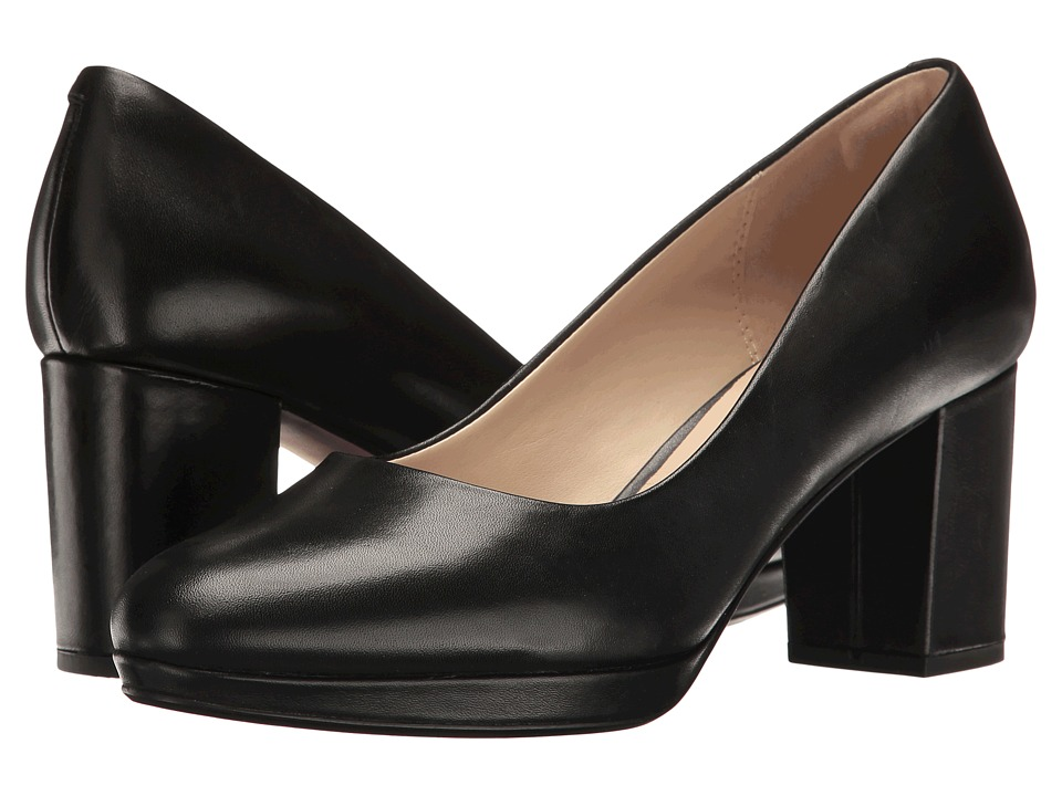 Clarks - Kelda Hope (Black Leather) Women's Shoes