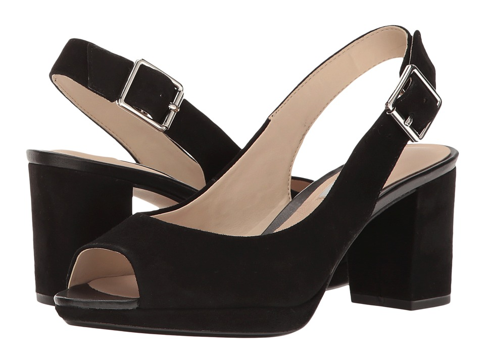 Clarks - Kelda Spring (Black Suede) Women's Shoes