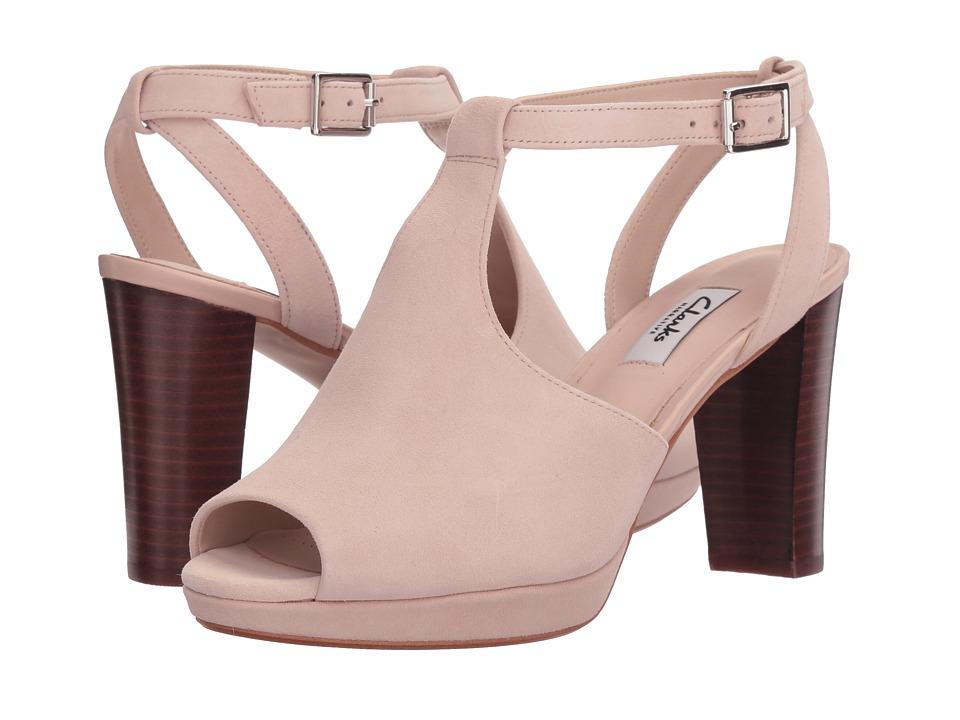 Clarks - Kendra Charm (Nude Suede) Women's Sandals