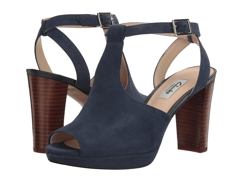 Clarks - Kendra Charm (Navy Suede) Women's Sandals