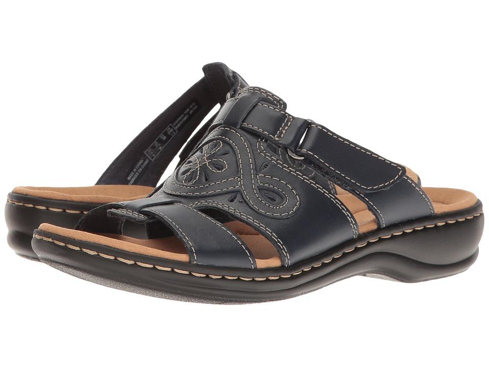 Clarks - Leisa Higley (Navy Leather) Women's Sandals