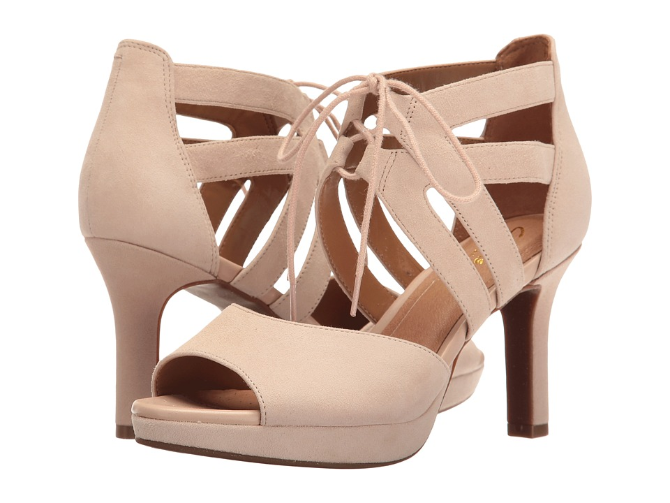 Clarks - Mayra Ellie (Nude Suede) Women's Sandals