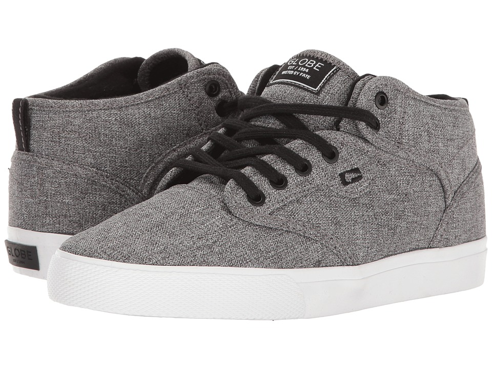 Globe - Motley Mid (Little Kid/Big Kid) (Black Chambray/White) Men's Skate Shoes