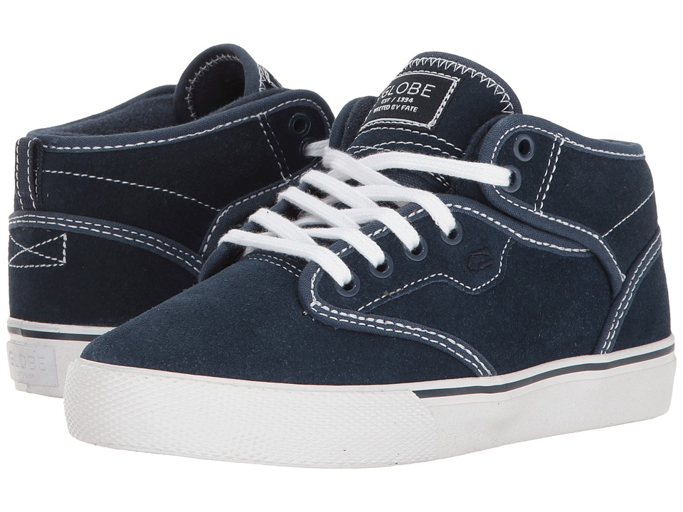 Globe - Motley Mid (Little Kid/Big Kid) (Blue/White) Men's Skate Shoes