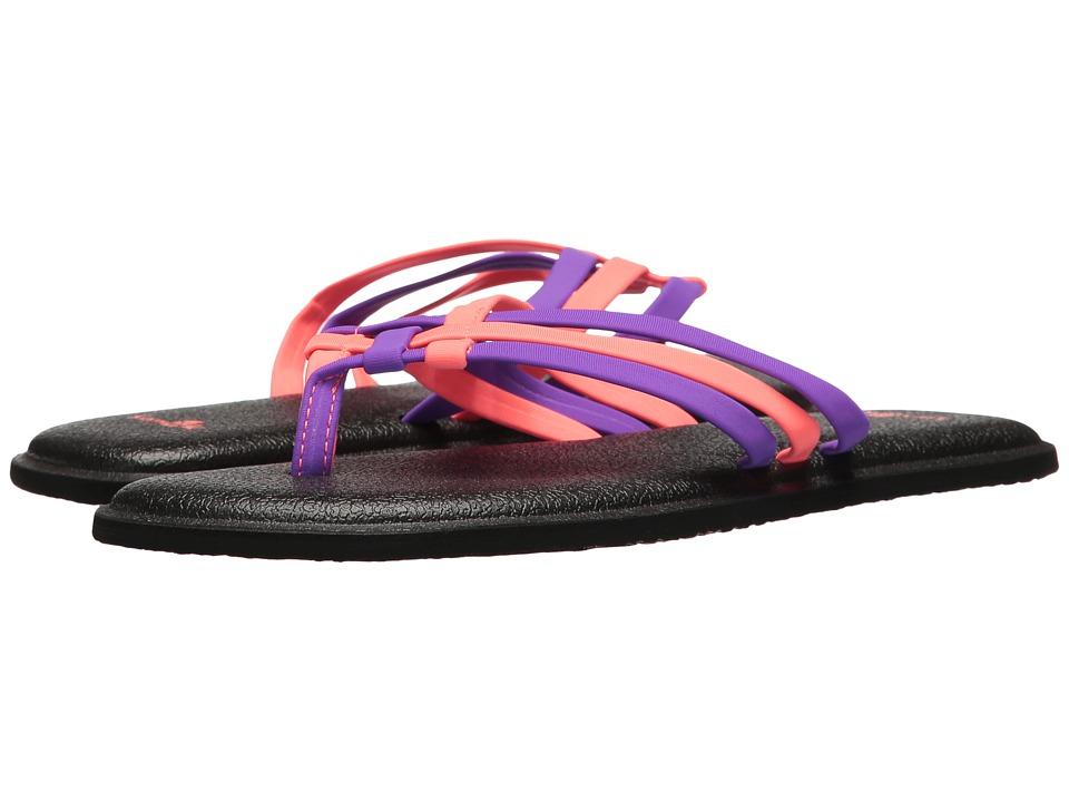 Sanuk - Yoga Salty (Liberty/Tropical Papaya) Women's Sandals