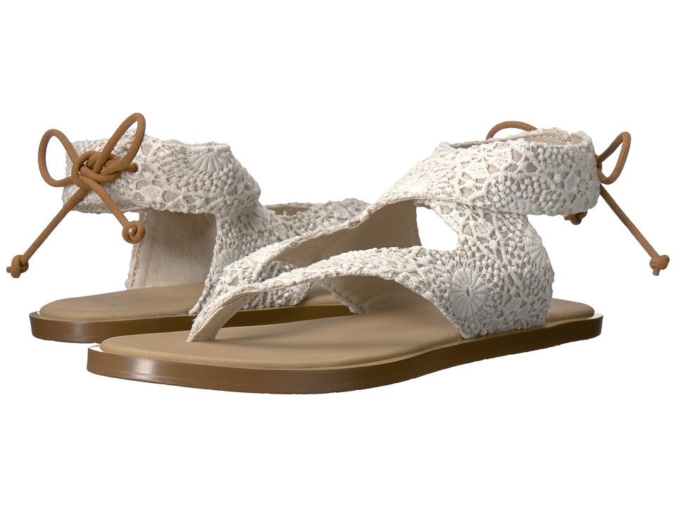 Sanuk - Yoga Mariposa Crochet (White/Oatmeal) Women's Sandals