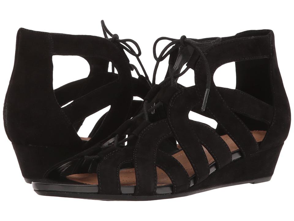 Clarks - Parram Lux (Black Suede) Women's Sandals